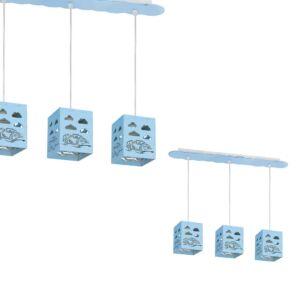 Milagro - RALLY Gyerekszobai függeszték lámpa kék 3xE27 60W