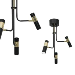 Milagro - DALLAS- függeszték 3-as fekete-arany 3xGU10