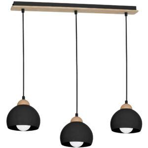 Milagro - Dama Black - függeszték lámpa 3-es fekete 3xE27