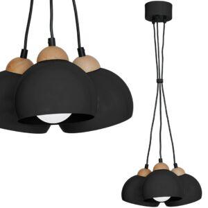 Milagro - Dama Black - függeszték lámpa 3-as fekete 3xE27