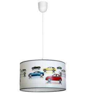 Milagro - CARS Gyerekszobai függeszték lámpa - kék 1xE27