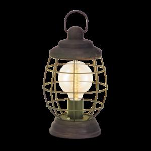 Asztali lámpa E27 60W barna-patina Vintage