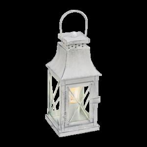 Asztali lámpa E27 60W szürke/üveg Vintage