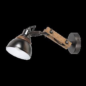 Alegra fali lámpa fekete/fa 1XE14-Elmark