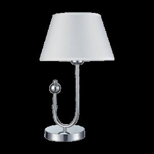 Carmen asztali lámpa 1X27 fehér/króm