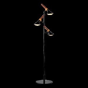 Duncan led állólámpa-matt fekete/fa-15W-3000K-Elmark
