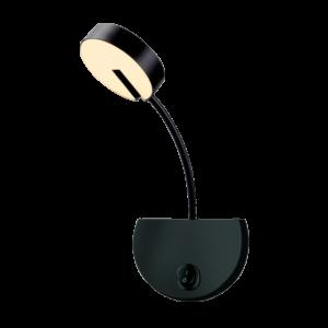 Senco led-fali lámpa--matt fekete-8.5W-3000K-Elmark