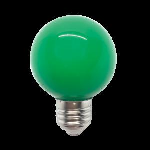 Színes Led Izzó gömb, zöld G45 3W E27 - Elmark