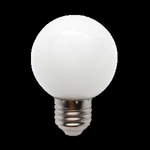 Színes Led Izzó gömb, fehér G45 3W E27 - Elmark