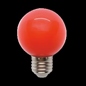 Színes Led Izzó gömb, piros G45 3W E27 - Elmark