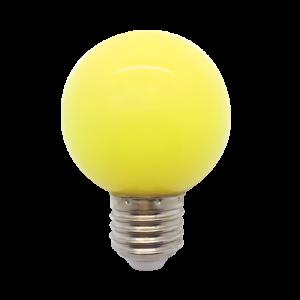 Színes Led Izzó gömb, sárga G45 3W E27 - Elmark