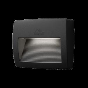 Lorenza kültéri 190 led fali lámpa fekete 8.5W 4000K IP55 - Elmark