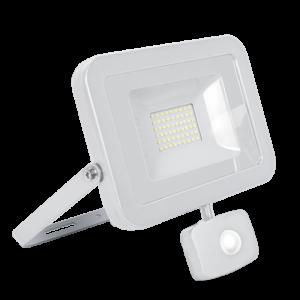 Vega30 vékony led fényszóró szenzorral fehér 30W 4000K IP65  - Elmark