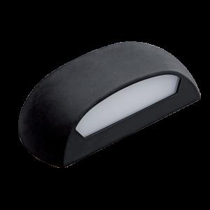 Tina kültéri led fali lámpatest fekete 12W 4000K IP65 - Elmark