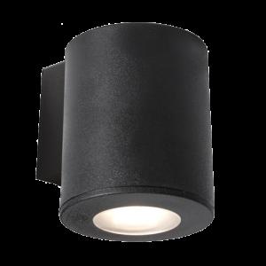 Franca 90 1L Kültéri Fali Lámpa 1Xgu10 Ip55 Fekete - Elmark