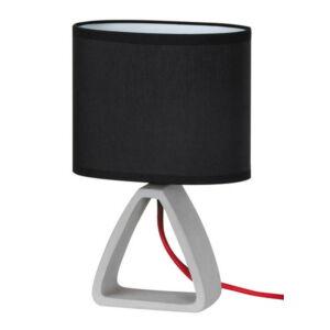 Henry, beton asztali lámpa, szövet búrával, piros vasaló zsinórral - Rábalux