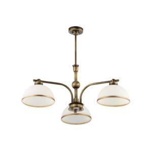 MONTANA - Jupiter - függeszték lámpa 3xE27 - fehér; antik bronz