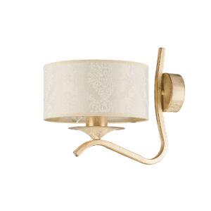 KASZMIR - Jupiter - falikar 1xE27/60W - fehér; arany; patinás