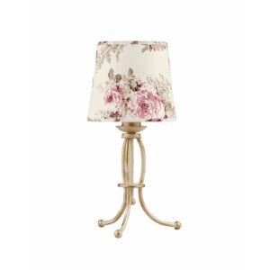 SARA - Jupiter - asztali lámpa 1xE27/60W - arany; mintás/színes