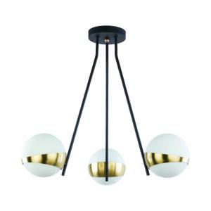 ELFA - Jupiter - függeszték lámpa 3xE14/40W/230V - bronz; fekete; fehér
