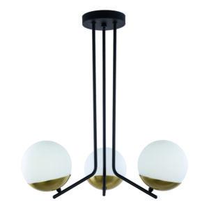 SANTA - Jupiter - függeszték lámpa 3xE14/40W/230V - sárgaréz; fehér; fekete