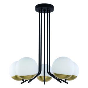SANTA - Jupiter - függeszték lámpa 5xE14/40W/230V - sárgaréz; fehér; fekete