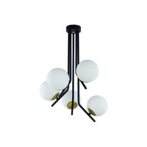 TIM - Jupiter - függeszték lámpa 5xE14/40W/230V - fekete; fehér; arany