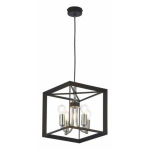 MAY - Jupiter - ArtDeco, Modern Függeszték lámpa - fekete, ezüst - 4xE14 / 40W, ~ 230V