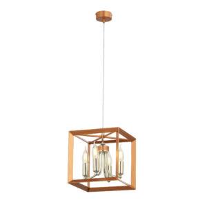 MAY - Jupiter - ArtDeco, Modern Függeszték lámpa - réz, króm - 4xE14 / 40W, ~ 230V