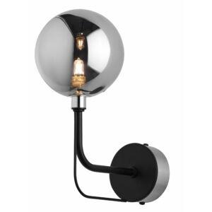 ERIS - Jupiter - Modern Falikar - füstös fekete, nikkel - 1xG9/LED