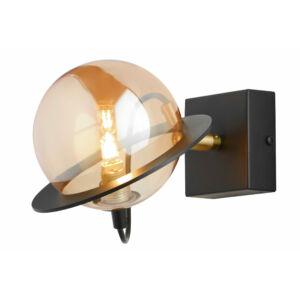 PLANET - Jupiter - ArtDeco, Modern Falikar - fekete, patinás réz, borostyán - 1xG9/LED