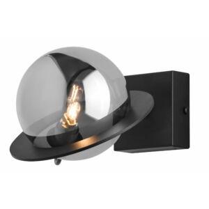 PLANET - Jupiter - ArtDeco, Modern Falikar - fekete, nikkel - 1xG9/LED