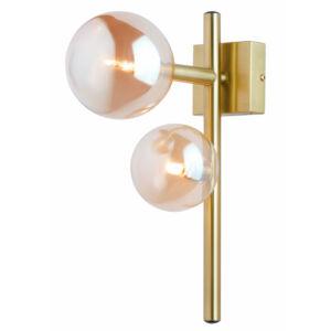 NEPTUN - Jupiter - ArtDeco, 2 búrás Falikar - patinás réz, borostyán - 2xG9/LED