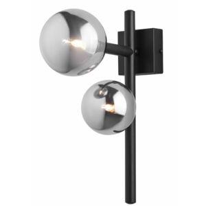 NEPTUN - Jupiter - ArtDeco, 2 búrás Falikar - füstös fekete - 2xG9/LED