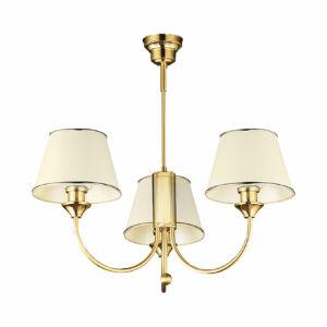 CLASSIC - Jupiter - függeszték lámpa 3xE27/60W/230V - bézs; arany