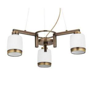 Linea pat. - Jupiter - függeszték lámpa 3x60/E27 - fehér; réz