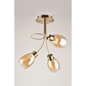 AMBRY - Klausen - 3 búrás, elegáns, mennyezeti lámpa - üveg/fém - borostyán/bronz - IP20 - 3xE14