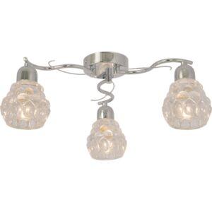 AMINA - Klausen - 3 búrás elegáns, üveg csillár - üveg/fém - króm/tiszta üveg - IP20 - 3xE14, 3x7W