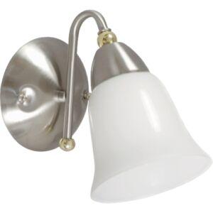 ELIO - Klausen - Modern, egyszerű falikar húzókapcsolóval - üveg/fém - fehér/króm - IP20 - 1xE27