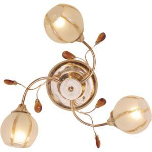 ERA - Klausen - 3 búrás borostyán, díszített mennyezeti lámpa - üveg/fém - arany/borostyán - IP20 - 3xE14, 3x7W
