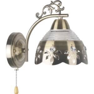 EVA - Klausen - Lágy arany, díszített falikar húzókpcsolóval - üveg/fém - arany - IP20 - 1xE27, 1x11W