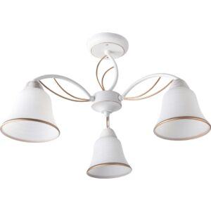 KELLY - Klausen - 3 búrás, elegáns, alabástrom mennyezeti lámpa - üveg/fém - fehér/arany - IP20 - 3xE27, 3x11W