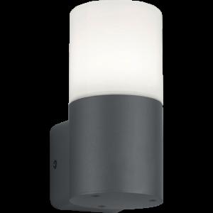 ASCOT - Klausen - Modern kültéri fali lámpa - aluminium/polikarbonát - opál fehér/ezüst - IP44 - 1xE27, 1x11W LED