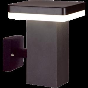 CALGARY - Klausen - Integrált LED, modern, fekete kültéri fali lámpa - rozsdamentes acél - fekete - IP44 - Integrált LED, 1x11W LED