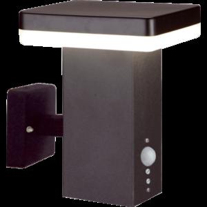 CALGARY - Klausen - Integrált LED, szenzoros, modern, fekete kültéri fali lámpa - rozsdamentes acél - fekete - IP44 - Integrált LED, 1x11W LED