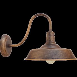 HAMPSHIRE - Klausen - Antik bronz terebélyes kültéri fali lámpa - fém - antik bronz - IP23 - 1xE27, 1x11W LED