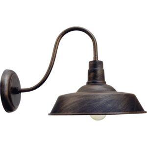HAMPSHIRE - Klausen - Antik kávé színű terebélyes kültéri lámpa - fém - kávé - IP23 - 1xE27, 1x11W LED