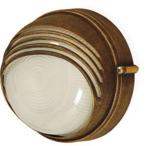 PARMA - Klausen - Antik bronz kültéri fali lámpa - aluminium/matt üveg - antik bronz - IP44 - 1xE27, 1x11W LED