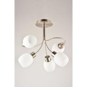 MILKY - Klausen - 5 búrás modern, egyszerű mennyezeti lámpa - üveg/fém - króm/fehér - IP20 - 5xE14
