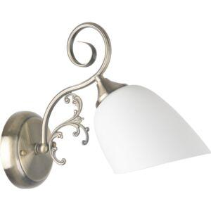 ROBYN - Klausen - Klasszikus, ovális falikar - üveg/fém - bronz/fehér - IP20 - 1xE27, 1x11W